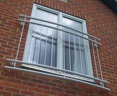 Juliette balcony we made for client in berkshire Railing Design, Door Design, House Design, French Balcony, Gates And Railings, Casa Loft, Window Grill Design, Balcony Railing, Iron Doors
