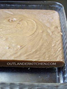 Scottish Tablet Scottish version of a fudge-like candy http://outlanderkitchen.com/2014/09/10/scottish-tablet-outlander-starz-episode-106/