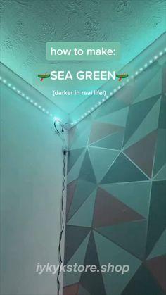 Cute Room Ideas, Cute Room Decor, Teen Room Decor, Diy Bedroom Decor, Led Room Lighting, Room Lights, Strip Lighting, Led Light Strips, Led Strip