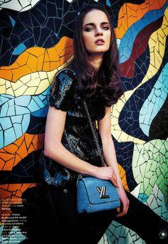 Polina Grebeniuk in Louis Vuitton for Harper's Bazaar Czech May 2015