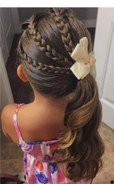 childrens hairstyles for school cute hairstyles for school easy quick hairstyles for school hairstyles for kids kids hairstyles for girls simple hairstyle for school girl easy little girl hairstyles black easy hairstyles for kids step by step Little Girl Haircuts, Little Girl Wedding Hairstyles, Hair For Little Girls, Braids For Little Girls, Little Girl Ponytails, Little Girls Makeup, Cool Ponytails, Girl Hair Braids, Braids For Girls