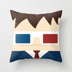 Doctor Who Pillow, David Tennant, Doctor Who Throw Pillow, Doctor Who Plush,