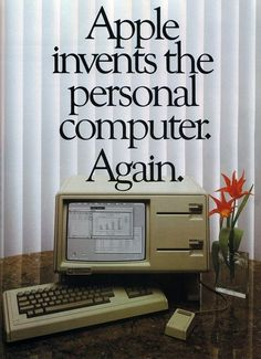 Throwing it back to this retro Apple Lisa computer from 1983! #vintagetech