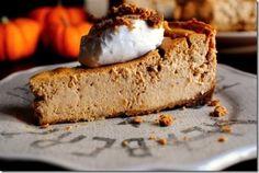 Pumpkin Gingersnap Cheesecake....such a good FALL treat!