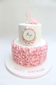 1st Birthday Cake for Baby Girl.