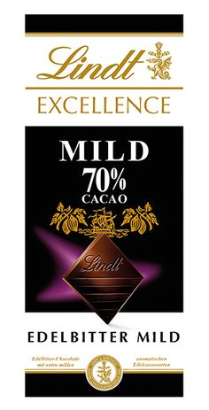 Lindt: Excellence 70% Mild, 100g Lindt Excellence, Bourbon Vanille, Calm, Cocoa Butter