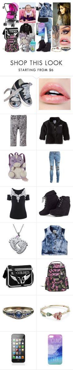"""Untitled #547"" by wwe-queen29 ❤ liked on Polyvore featuring Converse, Old Navy, House of Fraser, The North Face, Pillow Pets, AMIRI, MARA, My Name Necklace, Joovy and Ju Ju Be"