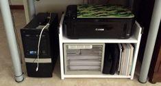 RAST Bedside Table to White Under Desk Mobile Printer Rack - IKEA Hackers