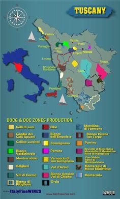 Tuscany wine region #Wine #Wineeducation #Italy