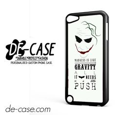 Joker All Needs A Little Push DEAL-5919 Apple Phonecase Cover For Ipod Touch 5