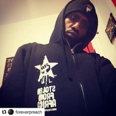 #Repost @foreverpreach  Only Our Day 1's Are Out There Rockin' These! Where You At?? #SFA #Winter #Hoodies #stolenfromafrica
