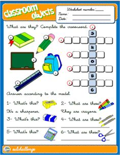 Objects Worksheet English Step By With Games As Well As Phonics ...