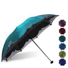Style: Womens umbrella. Folding: Yes. Feature: Fashion,Sun,rain,ultraviolet-proof,Light. Material: Black adhesive. | eBay!