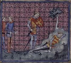 1380-1390, France heraldic stripes