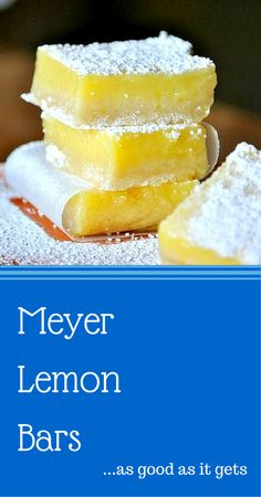 The BEST meyer lemon bar may be my greatest recent discovery.  This recipe changed my relationship with the lemon bar.  I will say no more ok a little more.  You need to make these.  They are that good.