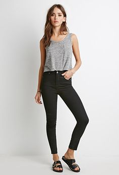 Clean Wash High-Rise Skinny Jeans | Forever 21 | #f21denim