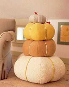 Pumpkin Pillows   Martha Stewart