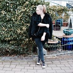 Furry Coat & Old Converse
