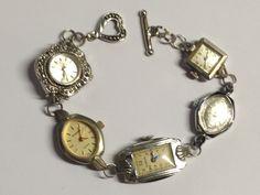 Vintage Watch Upcycle Bracelet. $48.00, via Etsy.