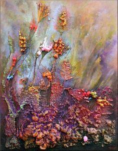 """Saatchi Online Artist cocis cosmin; Painting, """"Expanding Flowers"""" #art"""