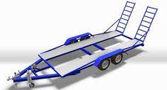 Car Hauler Trailer, Trailer Plans, Trailers, T Rex, Offroad, 4x4, Camper, Transportation, House Plans