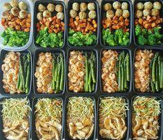 Cette prépa qui inclut du poulet, de la dinde, ET des crevettes.   23 photos qui vont vous donner envie de préparer votre repas à l'avance