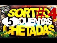 NUEVO SORTEO GTA 5 ONLINE 5 CUENTAS CHETADAS GRATIS - PS4, XBOXONE, PS3,...