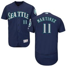 fc3644d1ae5 Mariners  11 Edgar Martinez Navy Blue Flexbase Authentic Collection Stitched  MLB Jersey