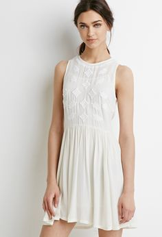 Embroidered Gauze Dress | Forever 21 - 2000077153