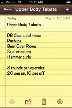 TABATA for the upper body #fitfluential