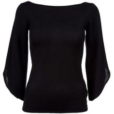 Ralph Lauren Black Label Fluted sleeve top