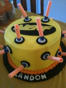 Nerf Birthday Party Cake made by Shannon Champion
