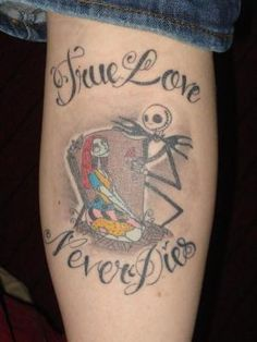 My Jack and Sally tattoo!