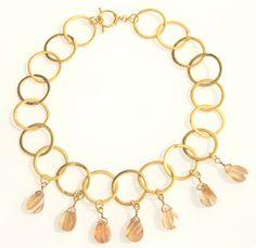 Rutilated Quartz and Gold Chain Necklace - Carol Camper Design - Product Search - JCK Marketplace