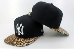 Casquette NY New York Yankees MLB Leopard Snapback Noir : Casquette Pas Cher