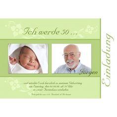 Einladung 50. Geburtstag, Fotokarte 10x15 cm, braun creme