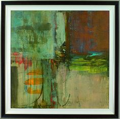 Great Big Canvas 'Fulfilment' by Sarah Stockstill Painting Print on Canvas Format: White Frame, Size: H x W x D Painting Prints, Fine Art Prints, Canvas Prints, Abstract Canvas, Abstract Print, Green Paintings, Kunst Poster, Thing 1, Modern Artwork
