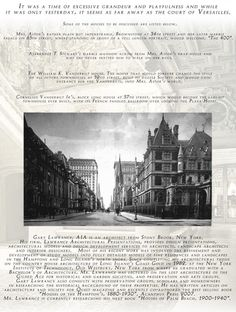 Page 2 of my lecture, Mrs. Astor's Fifth Avenue, Secret Splendors of the Gilded Age.