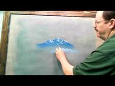 How to Draw Mountains with Chalk or Pastel - YouTube