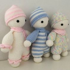 Cuddly babies doudou blankie toys jouet from FICELLEetTRICOTELLE