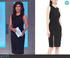 Julie Chen Fashion on Big Brother Cutout Dress, Lace Dress, Big Brother Style, Studded Dress, Scalloped Dress, Bow Blouse, Asymmetrical Tops, Julie Chen, Dresses For Work