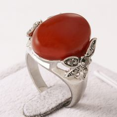 Simulated Onyx Black Glaze Band Ring  Fashion Carved Jewelry Women's Red Onyx Ring engagement women Rings(AKA0119-3)