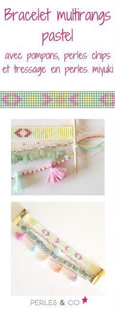 Vous cherchez à réaliser bracelet de l'été ? Stop ne cherchez plus voici le DIY à faire! Il s'agit d'un bracelet multirangs pastel constitué d'un tissage de perles Miyuki, de pompons et de perles chips. Il sera du plus bel effet sur votre poignet. Retrouvez le tutoriel sur le site de Perles & Co >> https://www.perlesandco.com/Bracelet_Multirangs_pastel_pompons_perles_Chips_et_Miyuki-s-2607-4.html