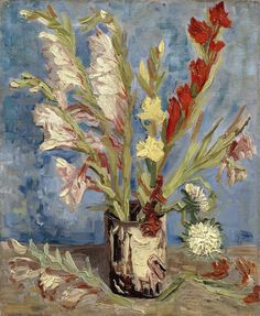 Vincent Van Gogh | Vase with gladioli and Chinese asters, c. 1886