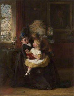 Sunday Afternoon   by George Bernard O'Neill  Bury Art Museum   Oil on board