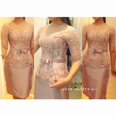 Vera Kebaya, Kebaya Lace, Kebaya Brokat, Dress Brokat, Batik Kebaya, Kebaya Dress, Kebaya Pink, Simple Dresses, Beautiful Dresses