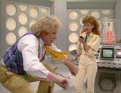 The Sixth Doctor and Mel