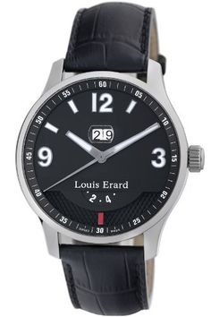 Louis Erard Men's 82224AA02.BDC51 1931 GMT Automatic Watch Louis Erard. $2692.00. GMT. Swiss Automatic movement. Water-resistant to 165 feet (50 M). Exhibition caseback; 21 jewels. Second hand. Save 15% Off!