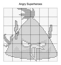 Cross Stitch - Angry Bird Superheroes 10 of 16 - flash