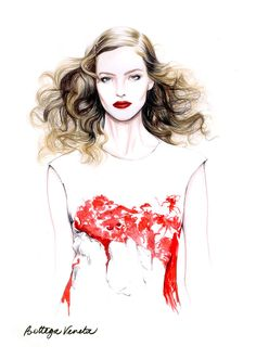 Caroline Andrieu #Fashion #illustration #art